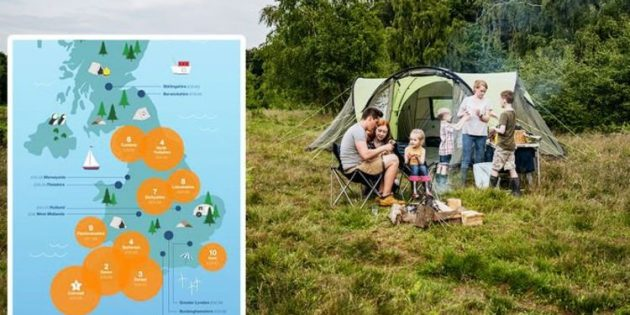 Camping holidays: Most popular UK holidays campsites mapped – Cornwall & Devon tops   Travel News   Travel
