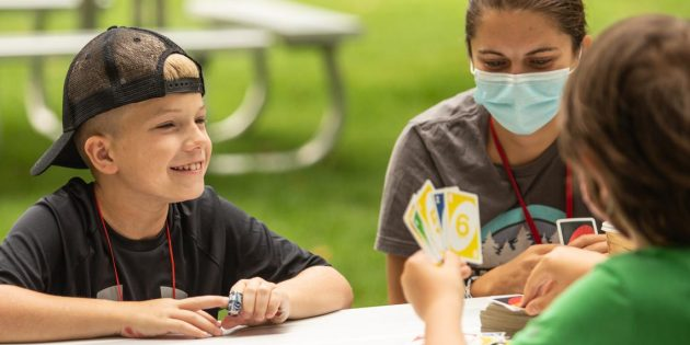 Kids with cancer get the camping experience in Crosslake, Minnesota